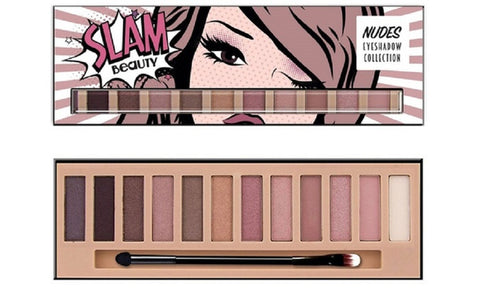 SLAM Beauty Nude Eyeshadow Makeup Palette (12-Piece)
