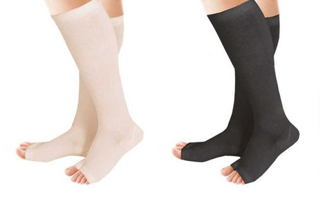 Compression Therapy Support Socks - 2 Pairs