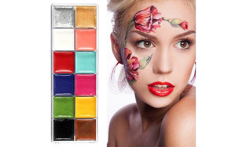 Face & Body Oil Painting Art 12-Color Makeup Palette Kit