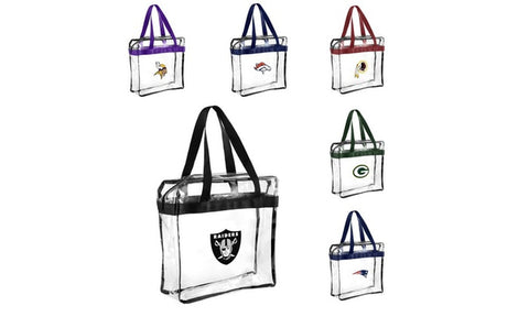NFL Clear Tote Messenger Bag With Handle