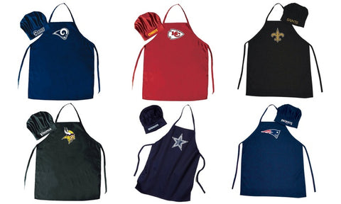 NFL Team Apron & Chef Hat Set