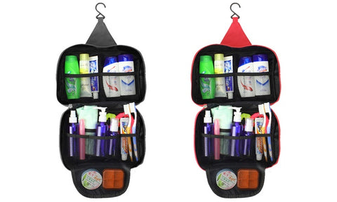 Waterproof Toiletry and Cosmetic Organizer Travel Bag with Hook