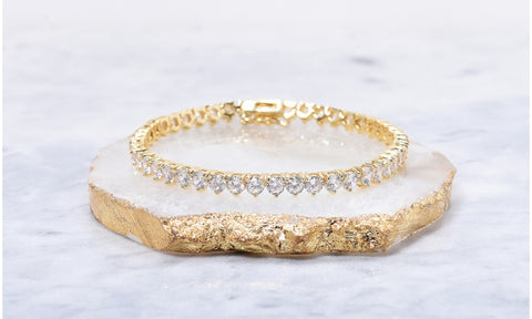 Elegant Crystal 3 Prong Tennis Bracelets Made With Swarovski Elements