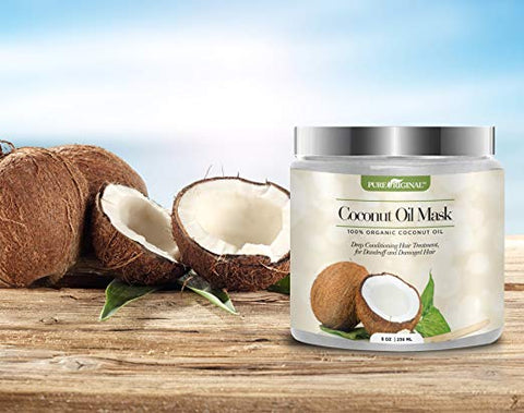 Pure Original Organic Coconut Oil Hair Mask