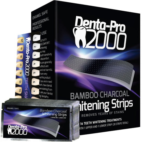 Dentapro2000 Teeth Whitening Activated Bamboo Charcoal Strips