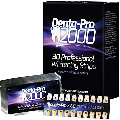 2 Pack DentaPro2000 Professional Teeth Whitening Strips - 56 Count