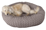 FurHaven Deep Dish Curly Fur Plush Donut Bed