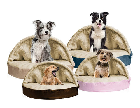 Faux Sheepskin Snuggery Orthopedic Pet Beds