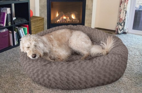 Deep Dish Curly Fur Plush Donut Bed