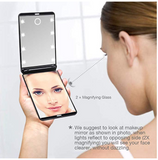 LED Light Magnifying Pocket Cosmetic Mirror
