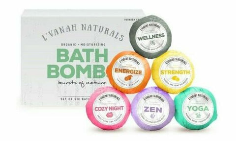 L'Vanah Naturals Scented Essential Oils Hydrating Bath Bombs Gift Set - 6 Pack