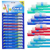 Family Pack Oral-B Multicolored Toothbrushes with Travel Caps- 12 Pack