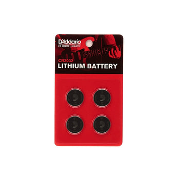 D'Addario CR2032 Lithium Battery - 4 Pack - CB Music Centre