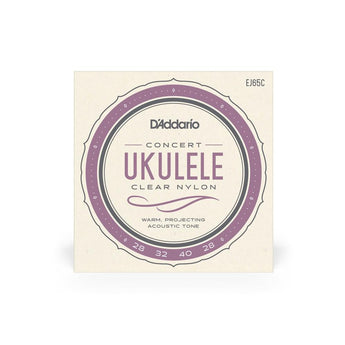 D'Addario EJ65C Concert Ukulele Strings Clear Nylon - CB Music Centre