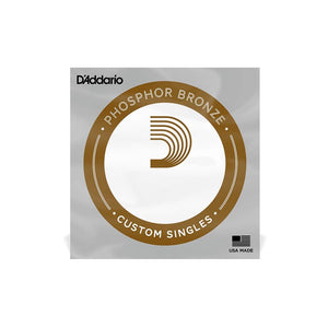 D'Addario Single Strings - Phosphor Bronze Wound - CB Music Centre