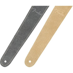 "Fender 2"" Suede Strap, Gray/Tan, Reversible - CB Music Centre"