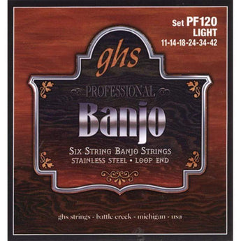 GHS Six String Banjo Strings - CB Music Centre