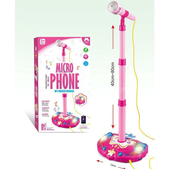 Little Rockstar Kids Karaoke Microphone with Stand - CB Music Centre