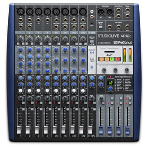 Presonus StudioLive AR12C: 12-channel USB-C™ Compatible Audio Interface / Analog Mixer / Stereo SD Recorder - CB Music Centre