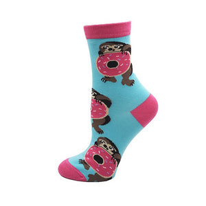 Animal - Bright Donut Bear Novelty Socks