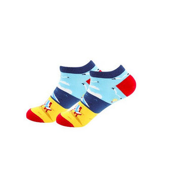 Ankle Socks - Day At The Beach Ankle Novelty Socks