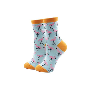 Flamingo - Blue & Pink Flamingo Novelty Socks