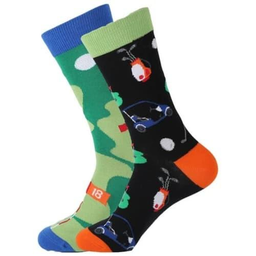 Golf - 18th Hole Golf Odd Novelty Socks