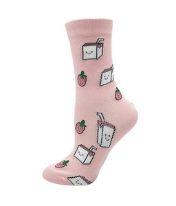 Milk - Strawberry Milk Novelty Socks
