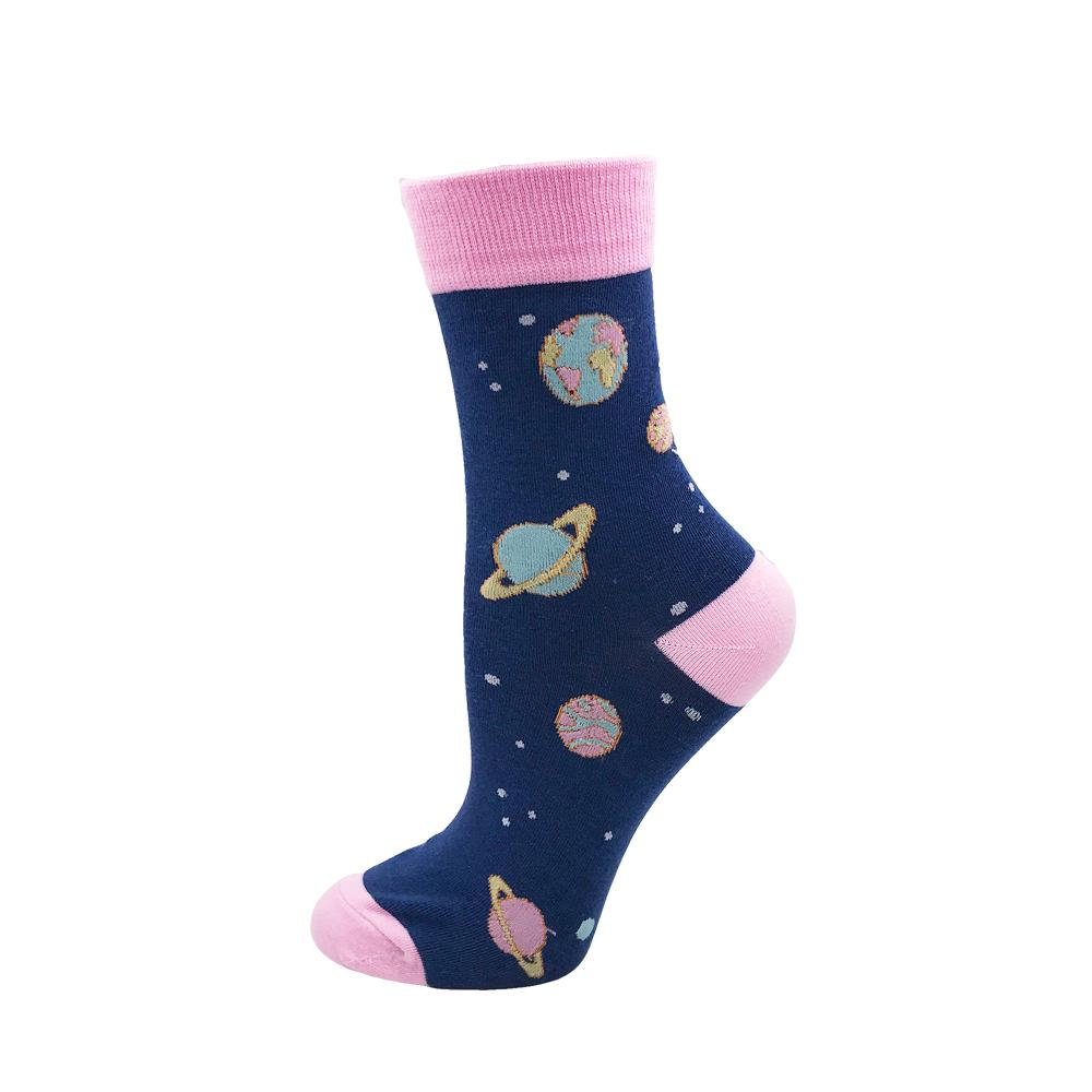 Space - Cool Pink Space Planet Novelty Socks