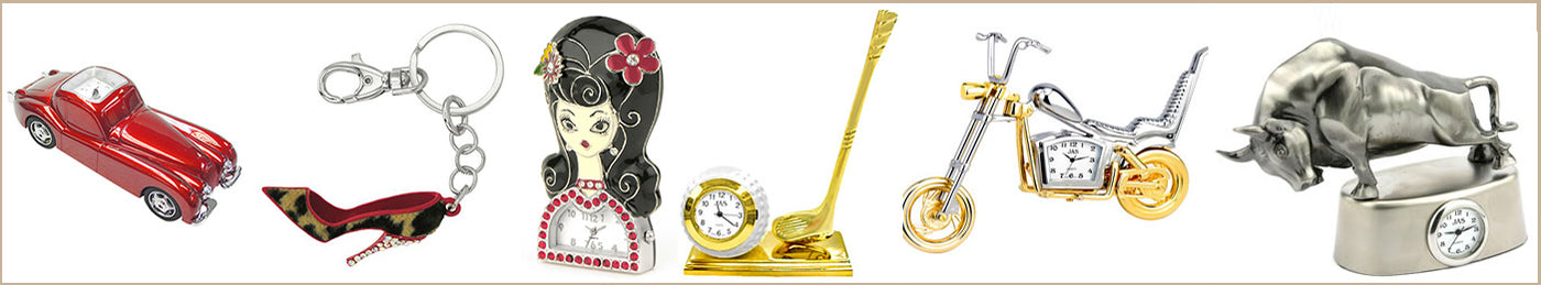 Novelty Desk Clocks | Keychains