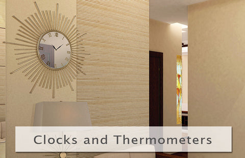 Wall Clocks and Thermometers