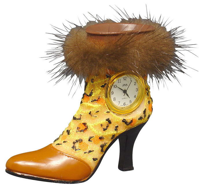 Shoe - Fur-trim Boot Novelty Clock