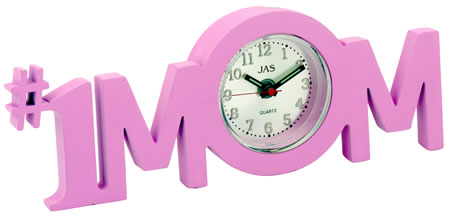 Mom Pink #1 Mom Novelty Desk Clock