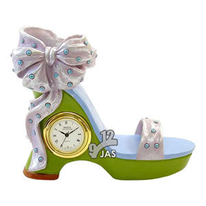 Shoe - Ladies Fancy Ribbon Shoe Novelty Clock