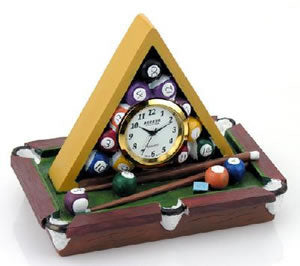 Billiard Table Novelty Desk Clock