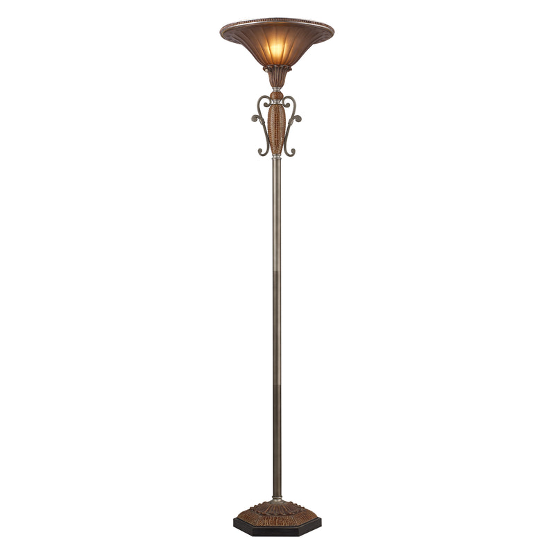 SYDNEY 1-LIGHT FLOOR LAMP IN DARk SILVER - Dark Silver