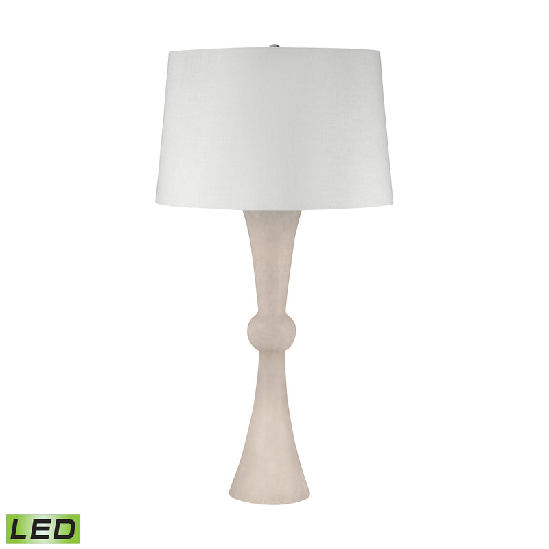 Alabaster Hour Glass LED Table Lamp - Alabaster