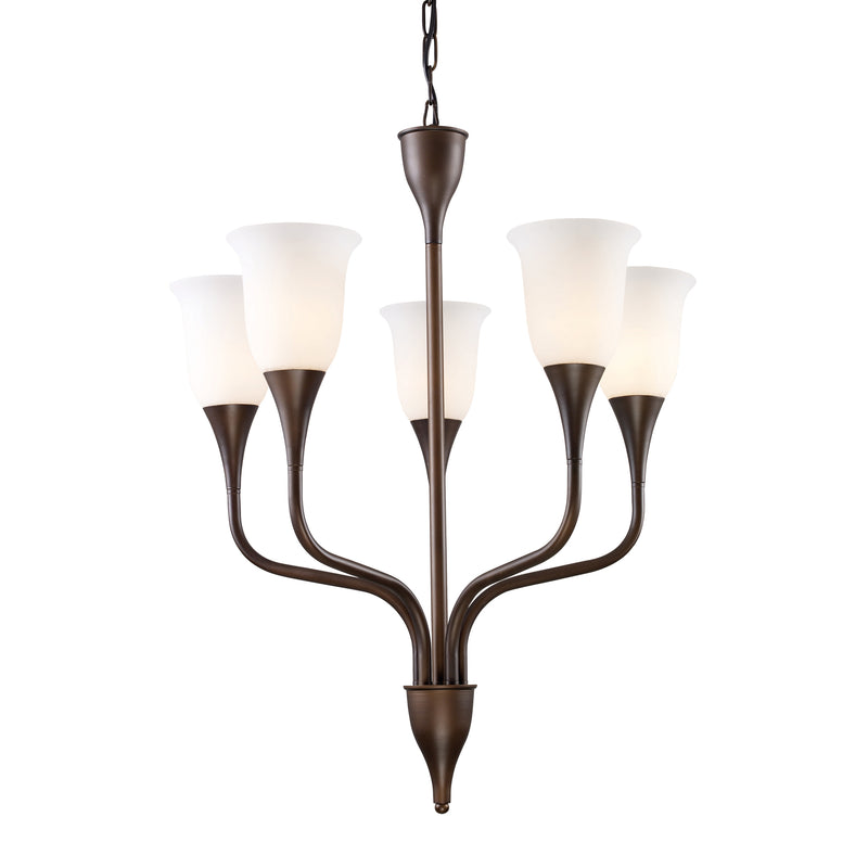 Cabaret 5-Light Chandelier in Aged  Bronze - Aged  Bronze