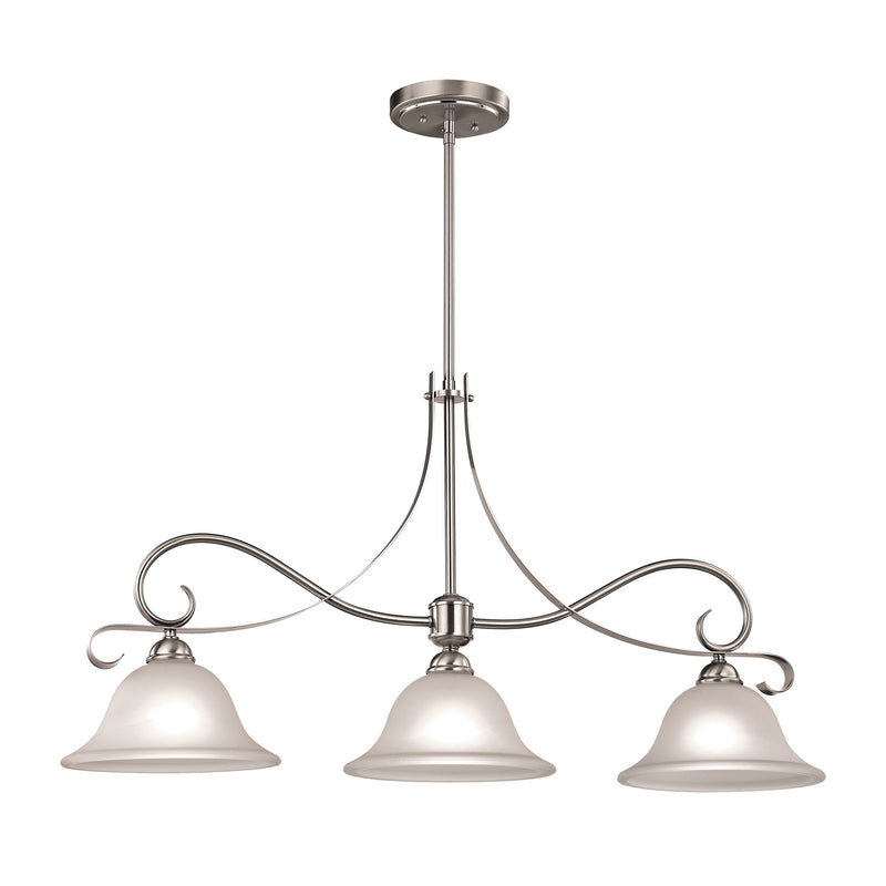 Brighton 3 Light Island In Brushed Nickel - Brushed Nickel
