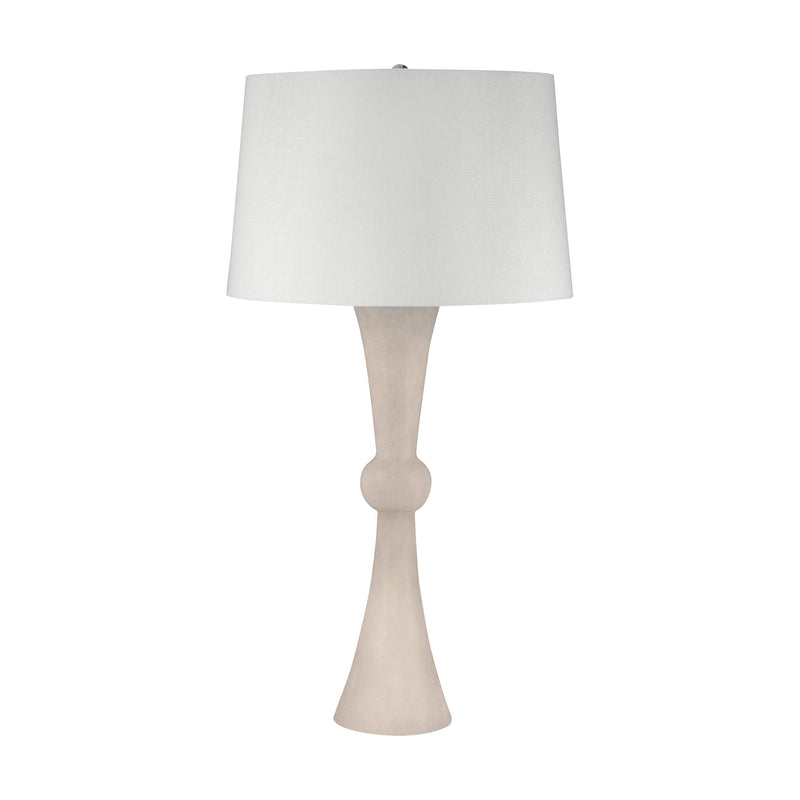 Alabaster Hour Glass Table Lamp - Alabaster