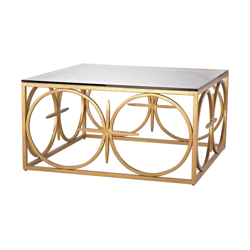 Amal Coffee Table. Antique Gold Leaf
