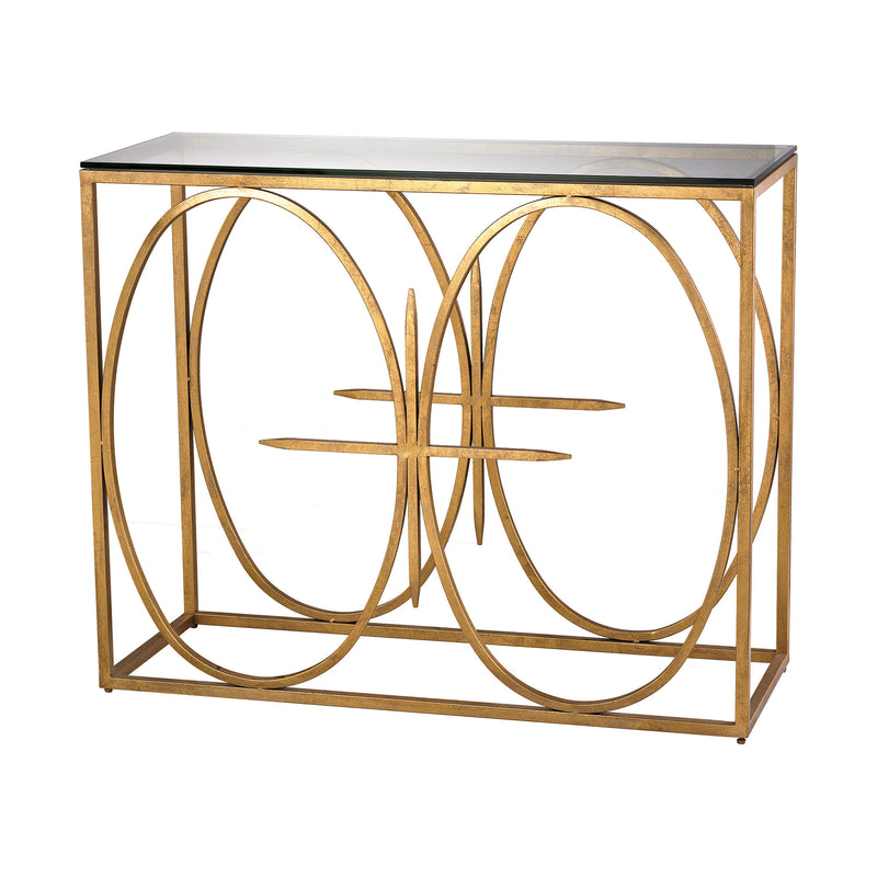 Amal Console Table. Antique Gold Leaf