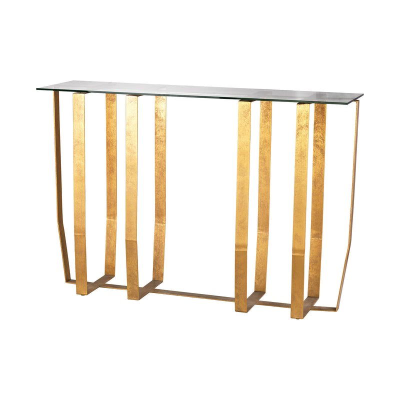 Ankara Console Table. Antique Gold Leaf