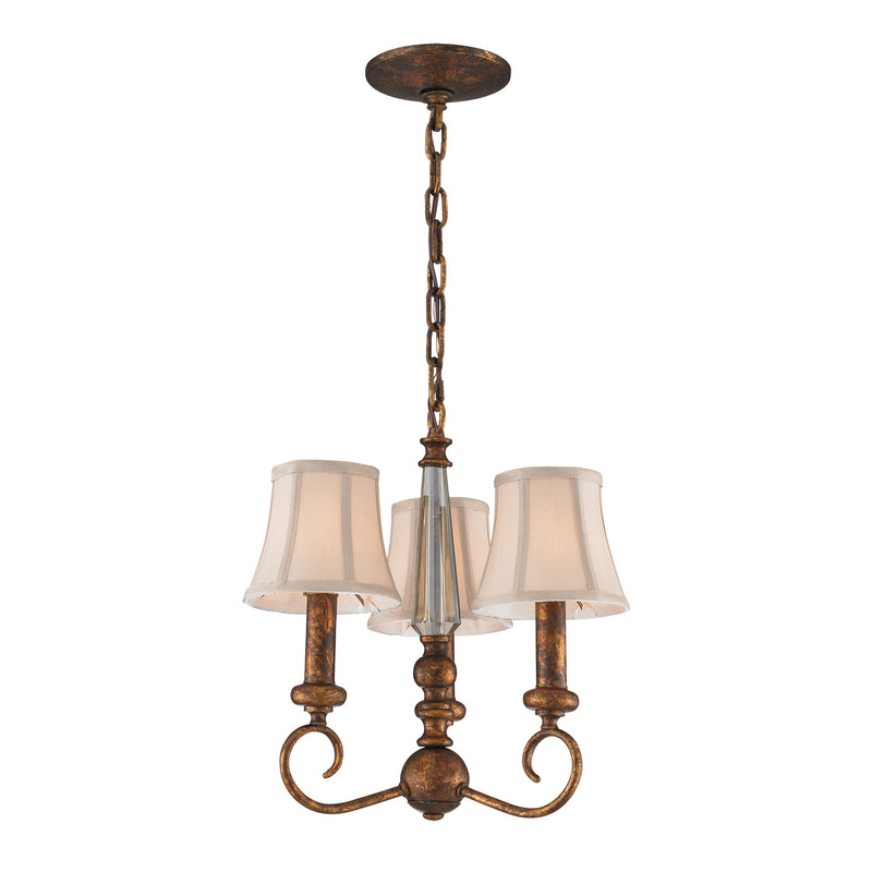 Crestview 3-Light Chandelier in Spanish Bronze** - Spanish Bronze