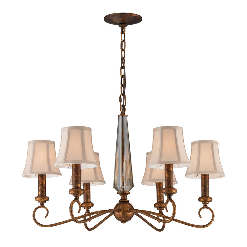 Crestview 6-Light Chandelier in Spanish Bronze** - Spanish Bronze