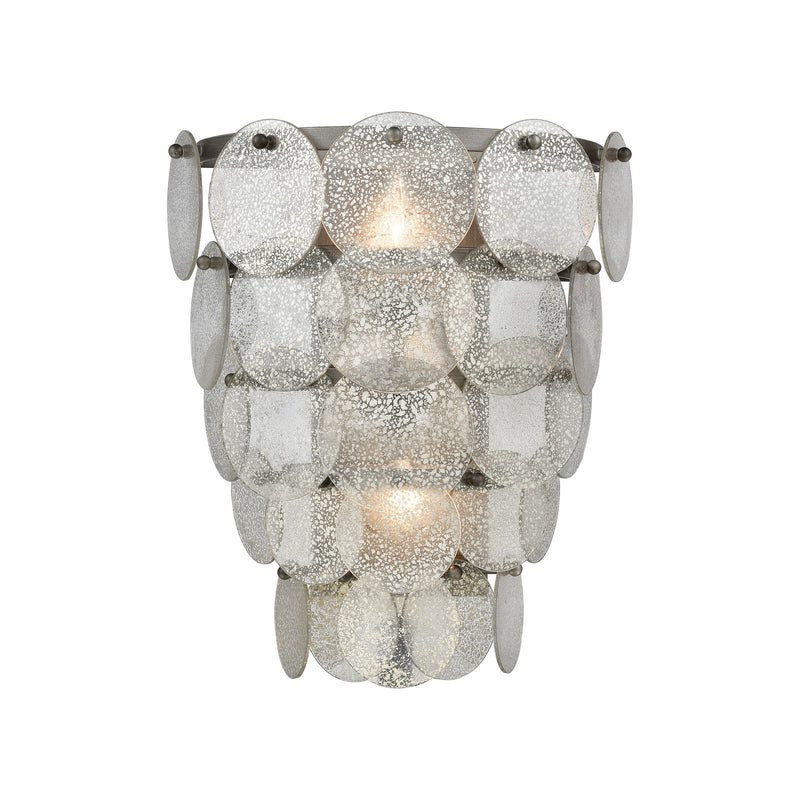 Airesse Wall Sconce - BRUSHED SLATE WITH MERCURY GLASS