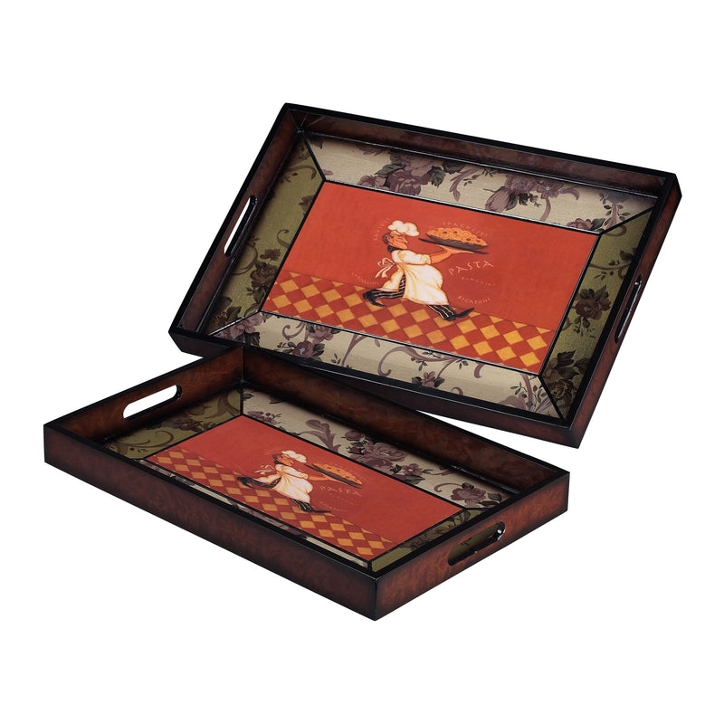 SET OF 2 BUSY CHEF TRAYS - _