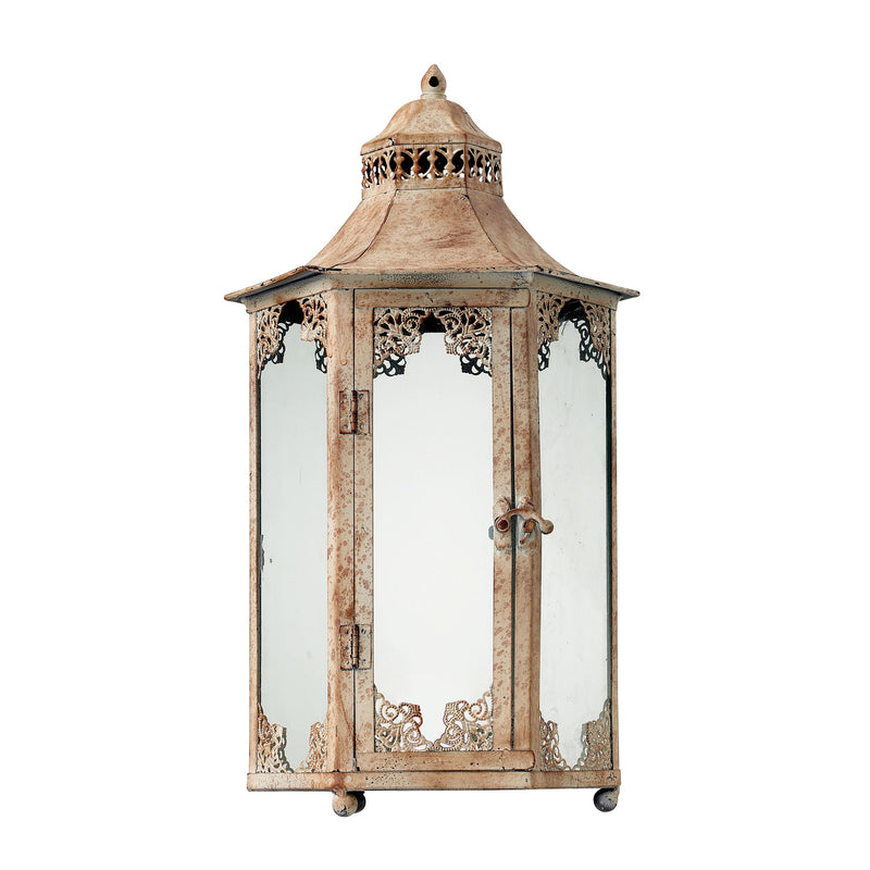 VINTAGE LANTERN - CHAUNCEY DISTRESSED CREAM