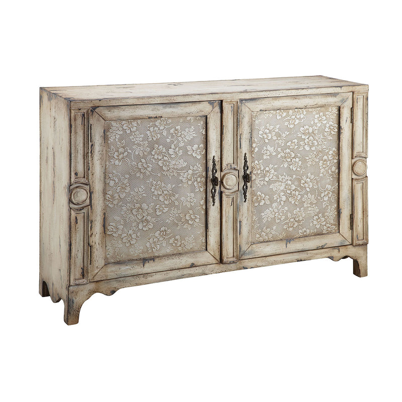 Brooke Cabinet in Hand-Painted,Aged Cream
