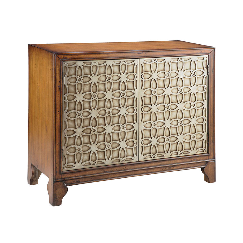 Como Cabinet in Hand-Painted,Wood-Tone,Champagne
